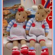 MJT Little Gems 2 'CORNISH Mice' Pdf /email Toy Knitting Pattern / NEW