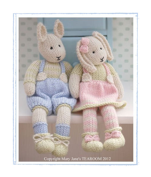 Knitting Patterns Toys : LILY & SAMUEL...Spring Baby Bunnies / 2 Pattern Deal/ Email / PDF Toy Kni...