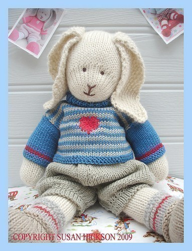Knitting Patterns For Toy Rabbits : OSCAR RABBIT / Bunny/ Knitted Toy PDF Email Pattern/ Toy Knitting Pattern on ...