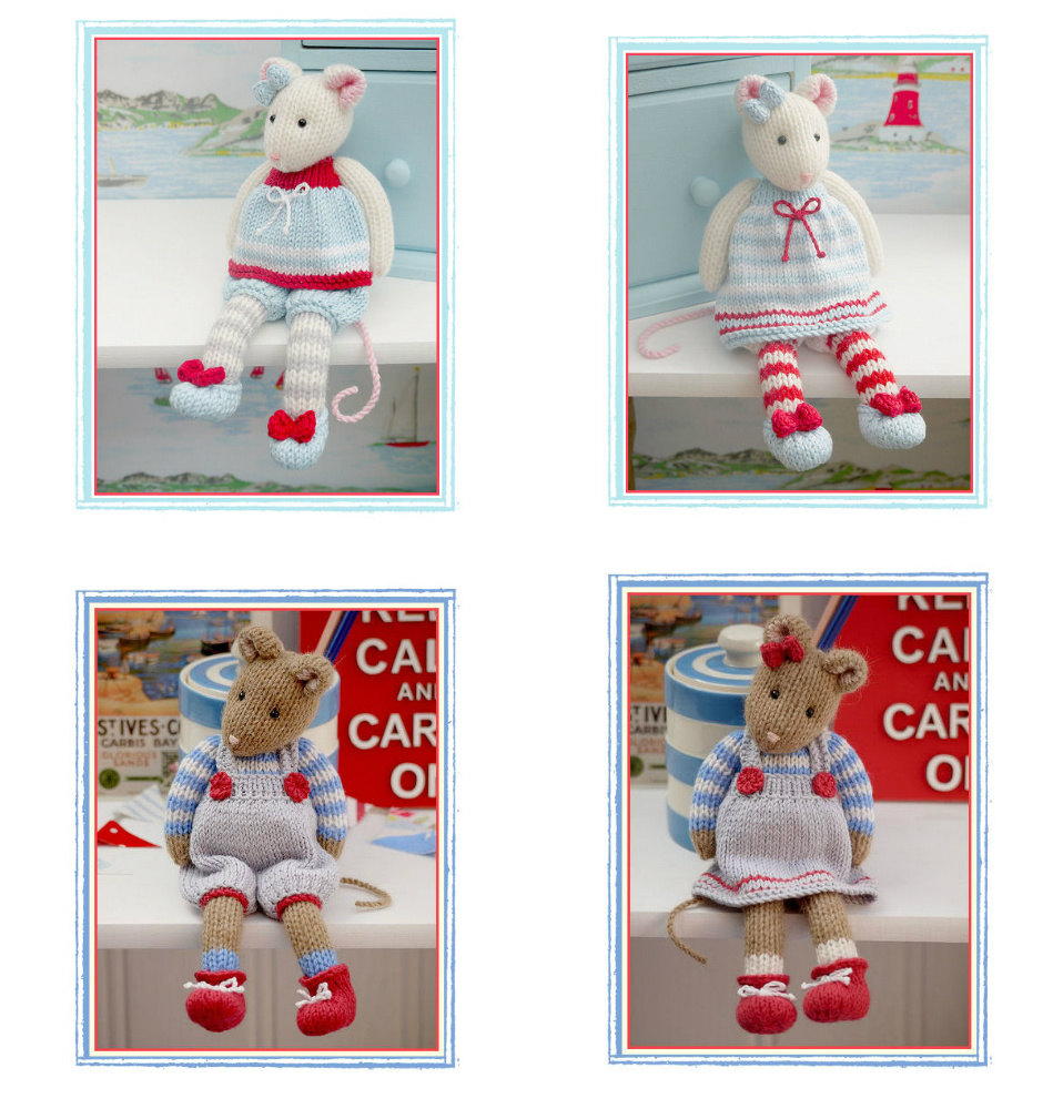MJT Mice 2 Pattern Deal/ 'Tearoom Mice' and 'Cornish Mice' PDF/Email Patterns