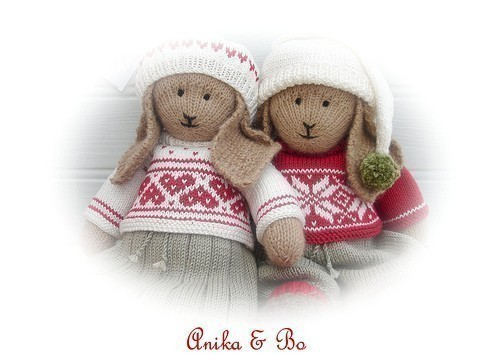 Anika /Bo / 2 Pattern MJT Deal /Lapland Visitors /PDF Email Toy Knitting Patterns