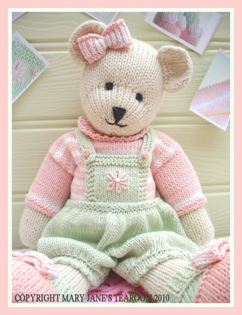 Knitted Teddy Bear Pattern Free : CANDY Bear/ Toy/ Teddy Knitting Pattern/ Pdf /EMAIL Pattern on Luulla