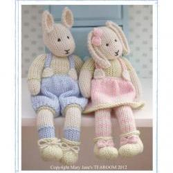 LILY & SAMUEL...Spring Baby Bunnies / 2 Pattern Deal/ Email /PDF Toy Knitting Patterns/ New