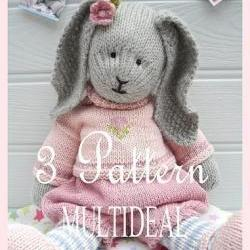 Bluebell/Daisy/Primrose/ 3 Pattern Deal /Girl Bunnies /PDF Email Toy Knitting Patterns