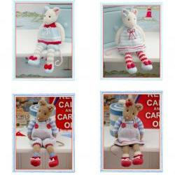 MJT Mice 2 Pattern Deal/ &#039;Tearoom Mice&#039; and &#039;Cornish Mice&#039; PDF/Email Patterns