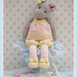 MJT Little Gems 1 &quot;Tearoom Mice&quot; Pdf/ Email Toy Knitting Pattern NEW